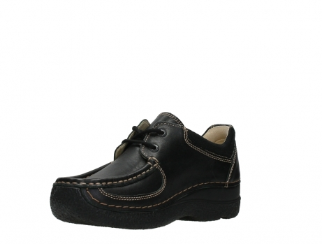 wolky lace up shoes 06216 roll shoe 30000 black leather_10
