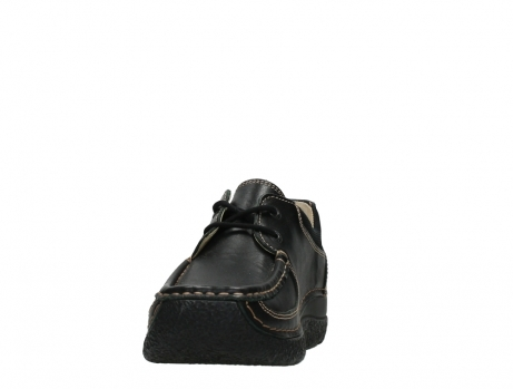 wolky lace up shoes 06216 roll shoe 30000 black leather_8