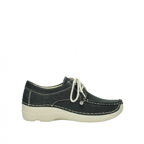 wolky lace up shoes 06286 seamy stroll 10070 black nubuck