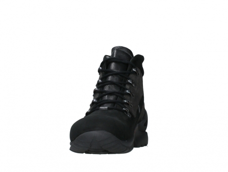 wolky lace up boots 06505 traction 16000 black nubuck_8