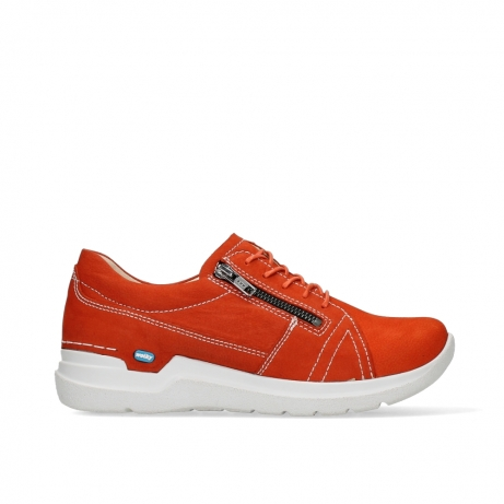 wolky lace up shoes 06609 feltwell 11570 red nubuck