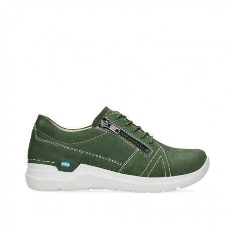 wolky lace up shoes 06609 feltwell 11720 moss green nubuck