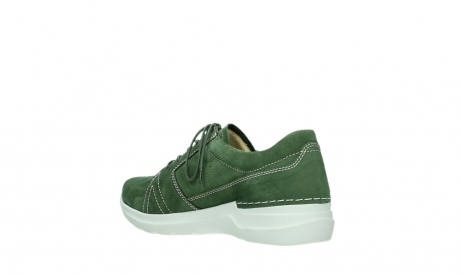 wolky lace up shoes 06609 feltwell 11720 moss green nubuck_16