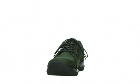 wolky lace up shoes 06609 feltwell 12735 forest green nubuck_8