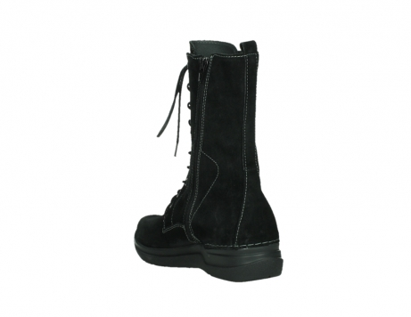 wolky lace up boots 06613 zigzag 45000 black suede_17