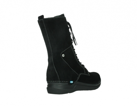 wolky lace up boots 06613 zigzag 45000 black suede_22