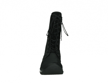 wolky lace up boots 06613 zigzag 45000 black suede_7