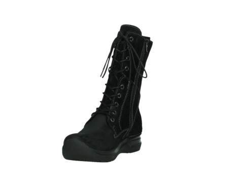 wolky lace up boots 06613 zigzag 45000 black suede_9