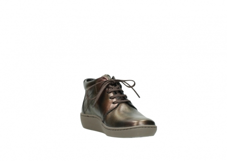 wolky lace up shoes 08126 babylon 90320 bronze metallic leather_17