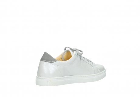 wolky lace up shoes 09440 perry 81100 white metallic leather_10