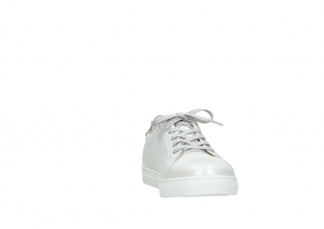 wolky lace up shoes 09440 perry 81100 white metallic leather_18