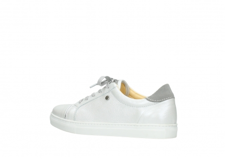 wolky lace up shoes 09440 perry 81100 white metallic leather_3