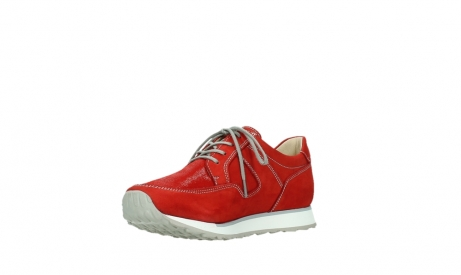 wolky walking shoes 05804 e walk 10570 red summer stretch nubuck_10