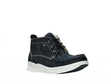 wolky lace up boots 05906 six 10870 blue nubuck_4