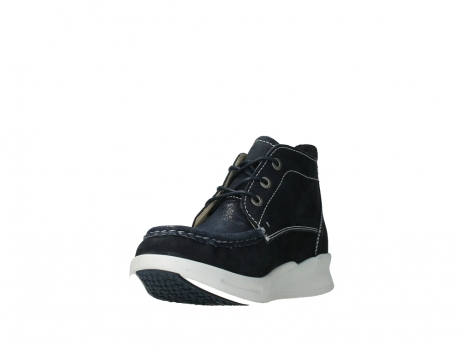wolky lace up boots 05906 six 10870 blue nubuck_9