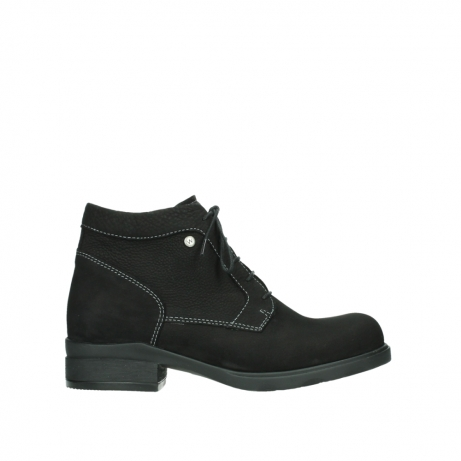 wolky lace up boots 02630 seagram xw 13000 black nubuckleather